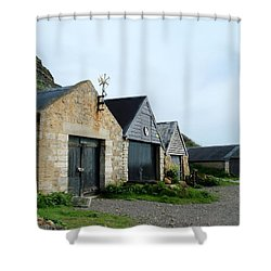 Shower Curtain featuring the photograph Fishman Shed by Katy Mei