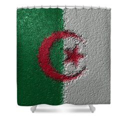Shower Curtain featuring the digital art Flag Of Algeria by Jeff Iverson