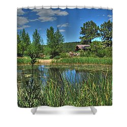 Shower Curtain featuring the photograph Flagstaff by Tam Ryan