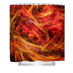 Flamboyance Shower Curtain by RochVanh