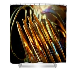 Flames Of Bronze Shower Curtain by Karen Wiles