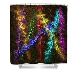 Flaming Arrows Shower Curtain by Michael Hurwitz