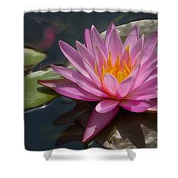 Flaming Waterlily Shower Curtain