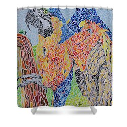 Flapping Color Shower Curtain by Steve Teets