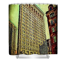 Flatiron Building Again Shower Curtain by Chris Lord