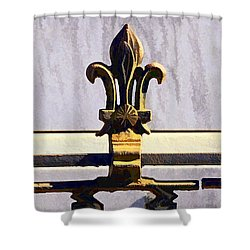 Fleur De Lis Painted Shower Curtain by Kathleen K Parker