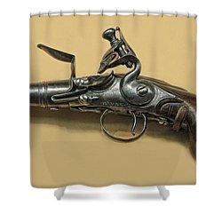 Flintlock Pistol Shower Curtain by Dave Mills
