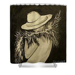 Flirt Three Shower Curtain by Leslie Allen