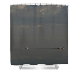 Floating Along Shower Curtain by Laurie Search
