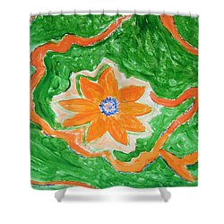Shower Curtain featuring the painting Floating Flower by Sonali Gangane