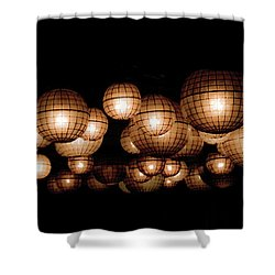 Floating Orbs Shower Curtain