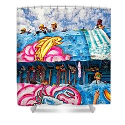 Floating Thru Mardi Gras Shower Curtain by Steve Harrington