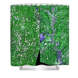Flooding In Kansas Shower Curtain by Nasa