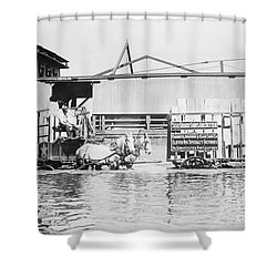 Flooding On The Mississippi River, 1909 Shower Curtain by Library of Congress