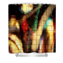 Floral Abstract II Shower Curtain by Sharon Elliott