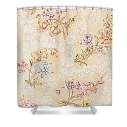 Floral Design With Peonies Lilies And Roses Shower Curtain by Anna Maria Garthwaite