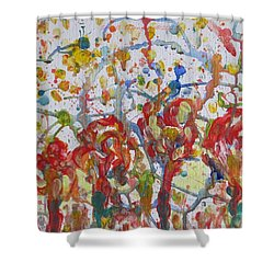 Shower Curtain featuring the painting Floral Feel by Sonali Gangane