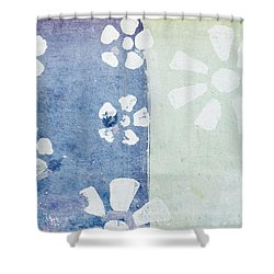 Floral Pattern On Old Grunge Paper Shower Curtain by Setsiri Silapasuwanchai