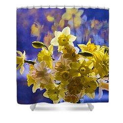 Floral Reflections Shower Curtain by Jo-Anne Gazo-McKim