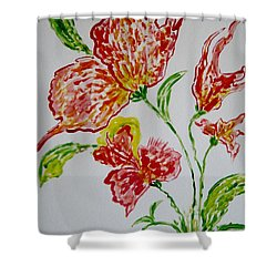 Shower Curtain featuring the painting Florals by Sonali Gangane
