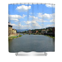 Shower Curtain featuring the photograph Florence Arno River by Patrick Witz