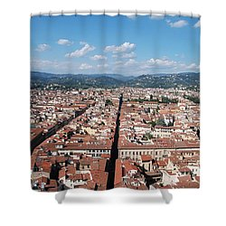 Shower Curtain featuring the photograph Florence From The Duomo by Dany Lison