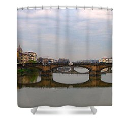 Florence Italy Bridge Shower Curtain by Catie Canetti