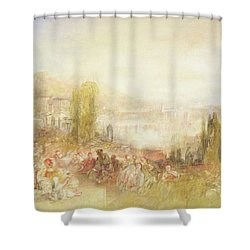 Florence Shower Curtain by Joseph Mallord William Turner