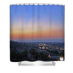 Florence Sunset Shower Curtain by La Dolce Vita
