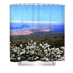 Flores De Los Osos Shower Curtain by Kurt Van Wagner