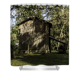 Florida Cracker Barn Shower Curtain by Lynn Palmer