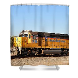Florida East Coast Sd40-2 711 Shower Curtain by John Black