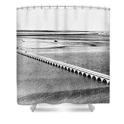 Florida: Overseas Bridge Shower Curtain by Granger