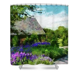 Flower - Town Square  Shower Curtain by Mike Savad