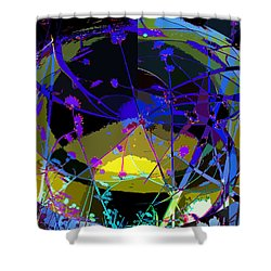Flower Abstract Shower Curtain by Anne Mott