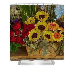 Flower Basket Shower Curtain
