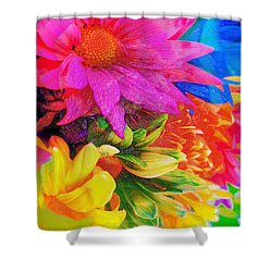 Flower Box Shower Curtain by Empty Wall