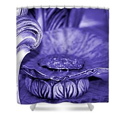Flower In Stone Shower Curtain