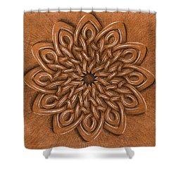 Flower Mandala Shower Curtain by Hakon Soreide