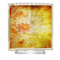 Flower Pattern Shower Curtain by Setsiri Silapasuwanchai