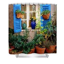 Flower Pots Galore Shower Curtain by Lainie Wrightson