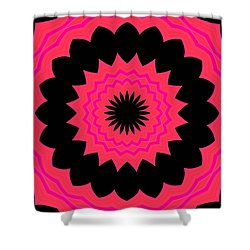Shower Curtain featuring the digital art Flower Power by Carolyn Repka