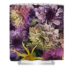 Flower Power Shower Curtain by Trish Tritz