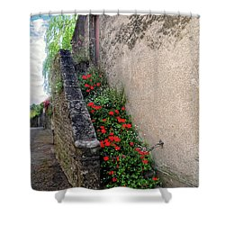 Shower Curtain featuring the photograph Flower Stairway by Dave Mills