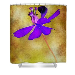Flower Take Flight Shower Curtain by Judi Bagwell
