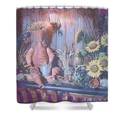 Flowerpotman Shower Curtain