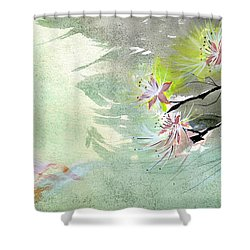 Flowers 3 Shower Curtain by Anil Nene
