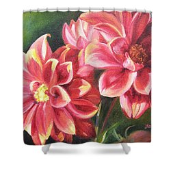 Shower Curtain featuring the painting Flowers For Mom I by Lori Brackett