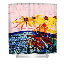 Flowers From Another World Shower Curtain by Lenore Senior and David Bearden