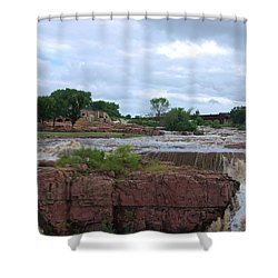 Flowing Falls Shower Curtain by Judy Hall-Folde